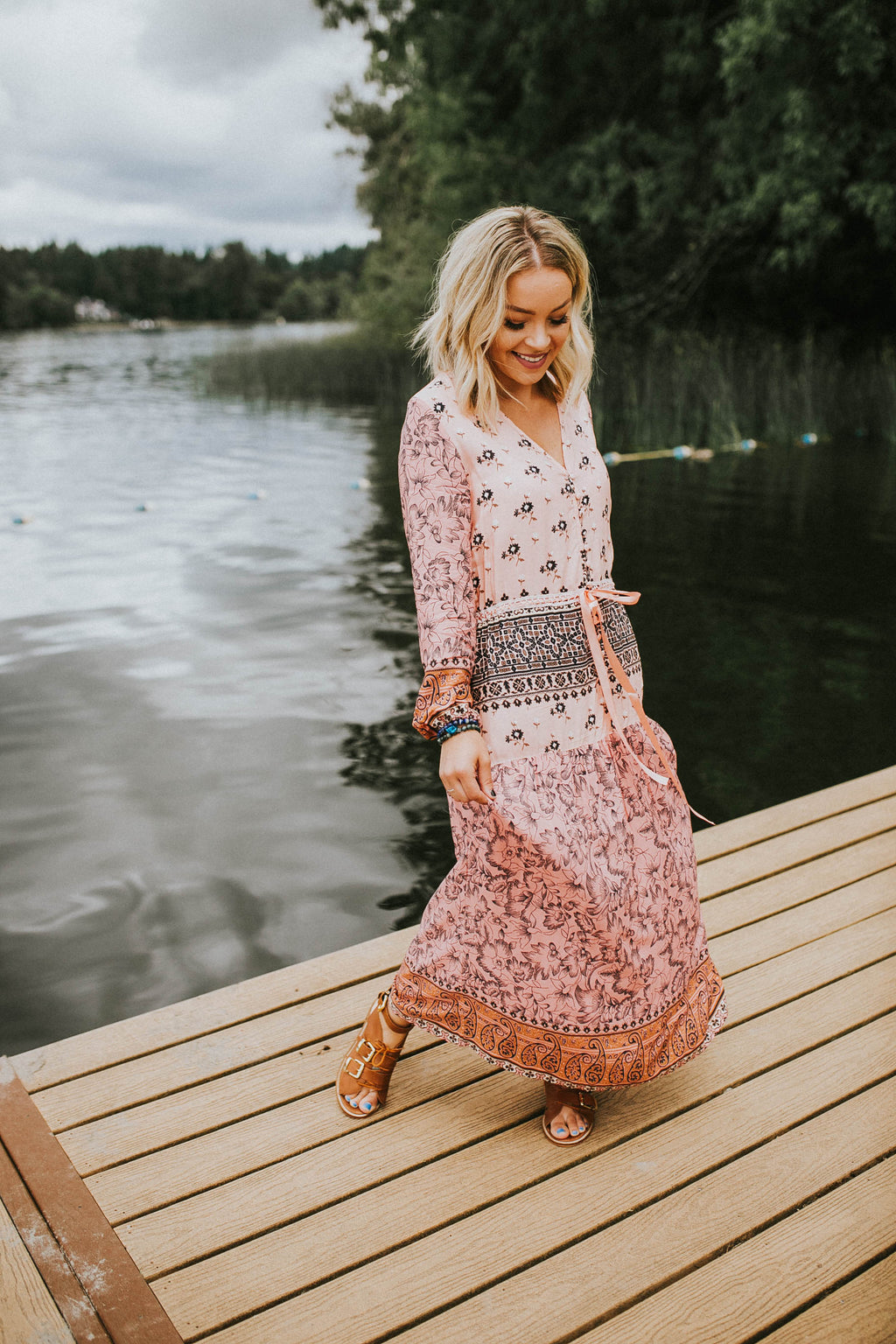Pretty In Pink Boho Dress