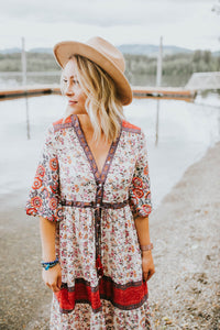 Rosie Red Boho Dress