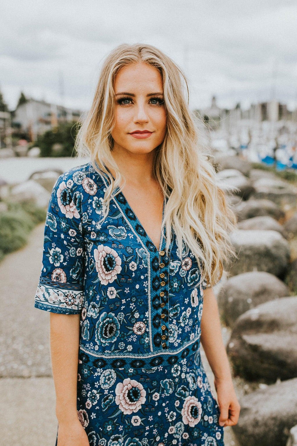 Blue Boho Babe Dress