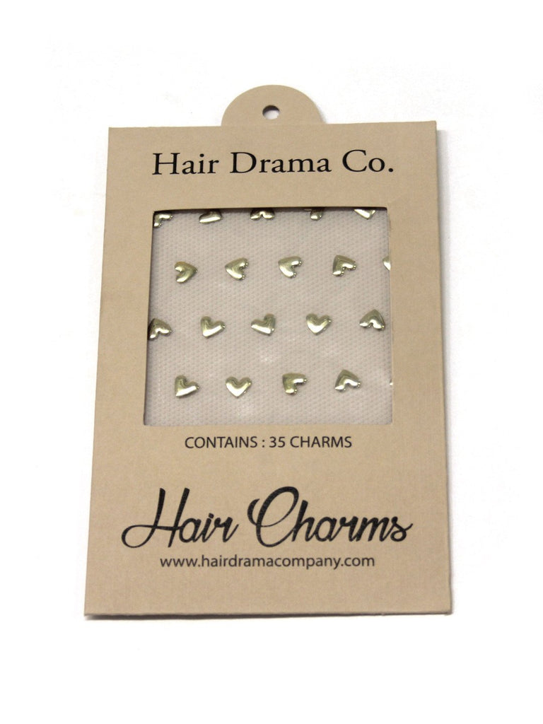 Jewel Up Hair Charms - Golden Hearts - Hair Drama Company