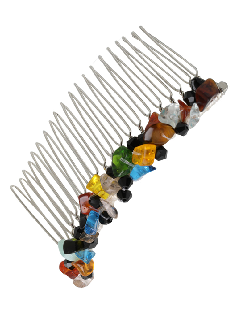 MULTI COLOR PEBBLE HAIR COMB - big - Hair Drama Company