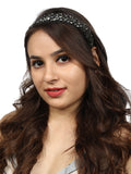 Grey Rhinestoned Headband - Hair Drama Company