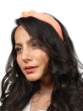 Peach Organza Headband-New Color - Hair Drama Company