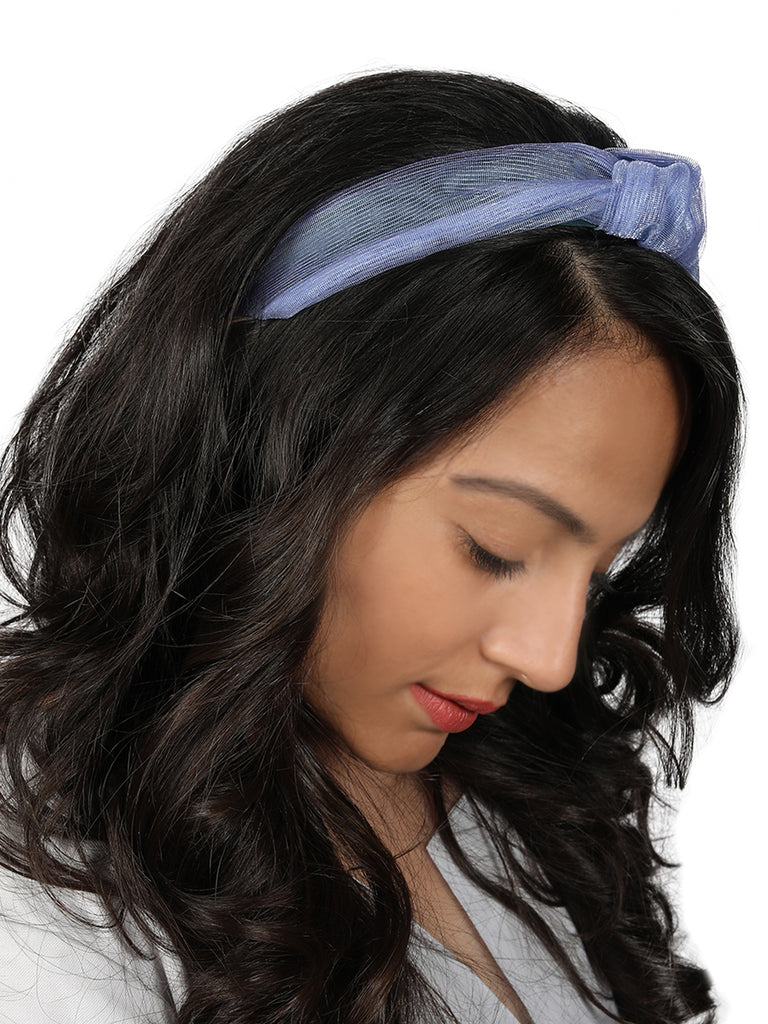 Blue Shine Lace organza Headband-New Color - Hair Drama Company