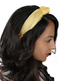 Light Yellow Organza Headband-New Color - Hair Drama Company
