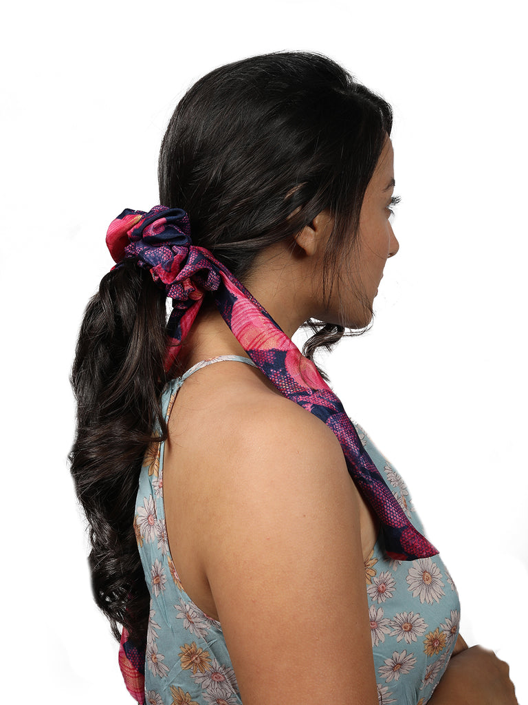 SUMMER SCRUNCHIES-OPT III-Pink - Hair Drama Company