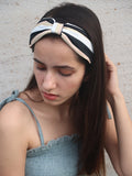 Black & White Knotted Headband - Hair Drama Company