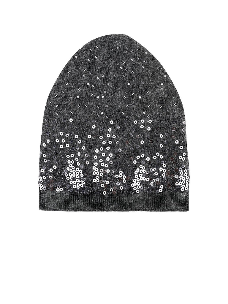 Grey Sequins Beanie - Hair Drama Company