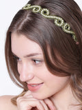 Princess Jeweled Headwrap - Silver & Black - Hair Drama Company