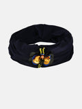 NAVY TURBAN BAND WITH BUG - Hair Drama Company