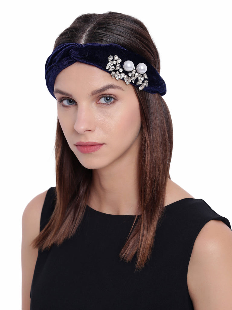 Queen Pearl Turban Band - Hair Drama Company