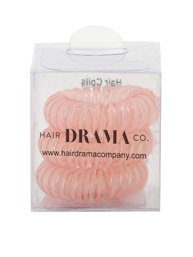 Hair Coils - Clear with Pink Set - Hair Drama Company