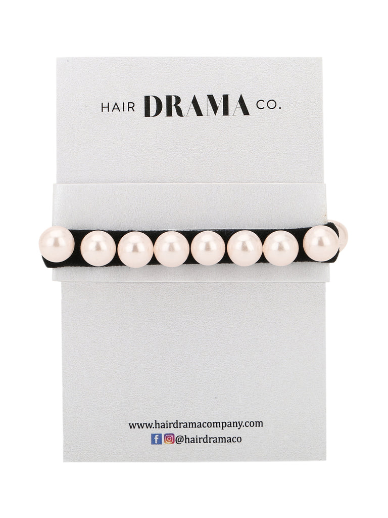 Olivia rubber bands - White and Black - Hair Drama Company