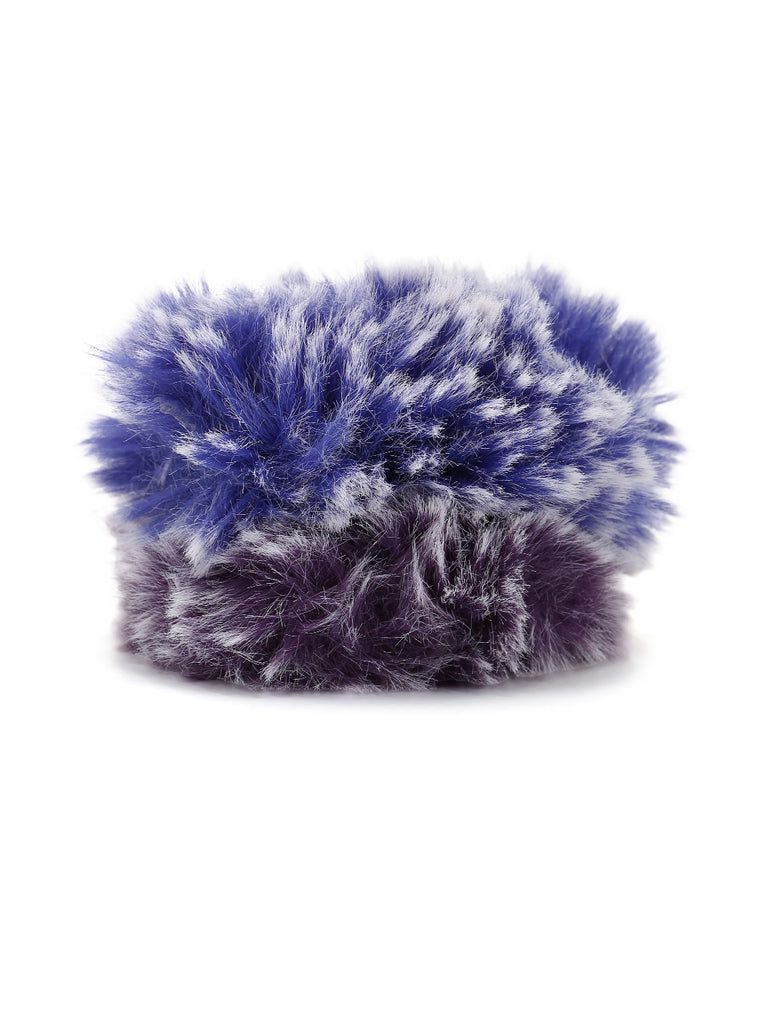 Kimberly fur scrunchies -  Blue and Purple - Hair Drama Company