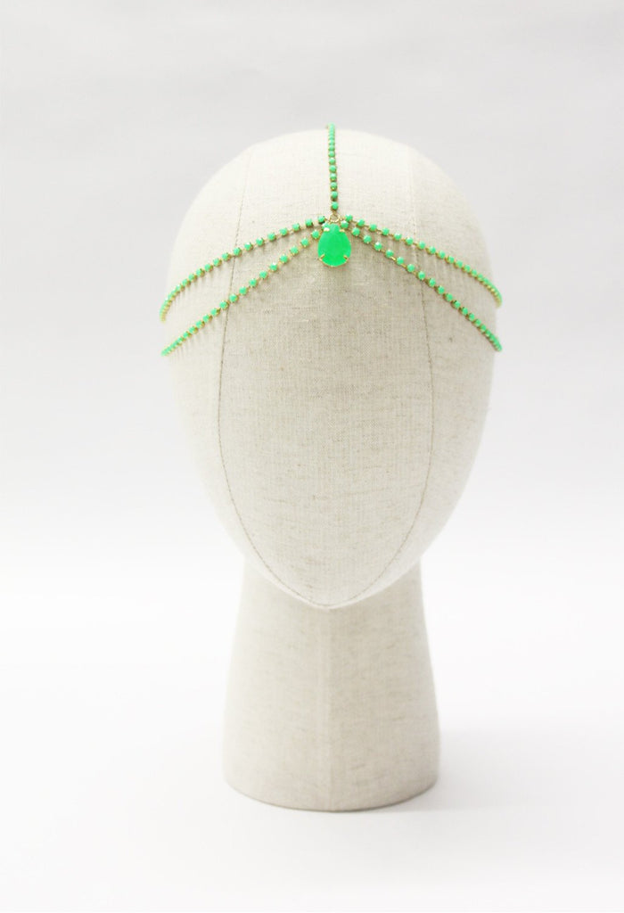 Princess Head chain - Green - Hair Drama Company