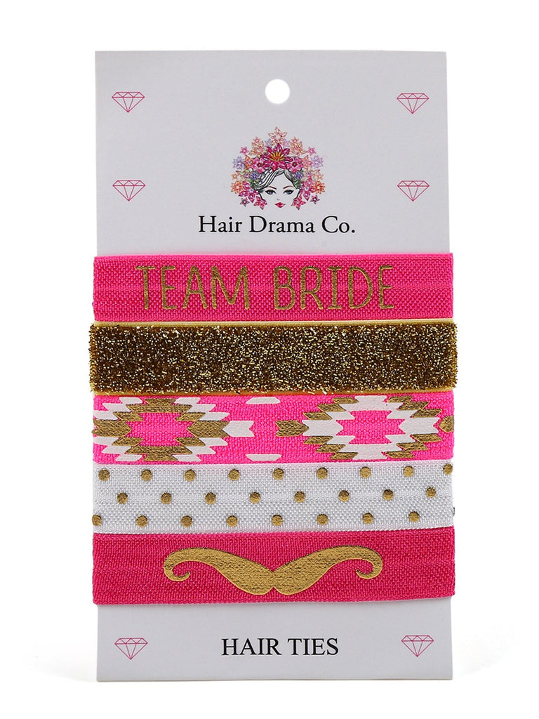 Team Bride Knotted Hair Ties - Hair Drama Company