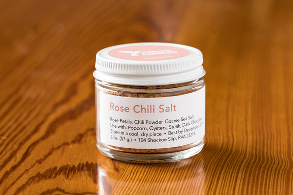 Rose Chili Salt Jar