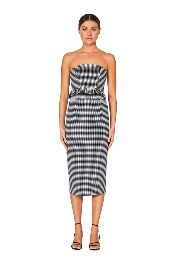 Grid Pencil Skirt