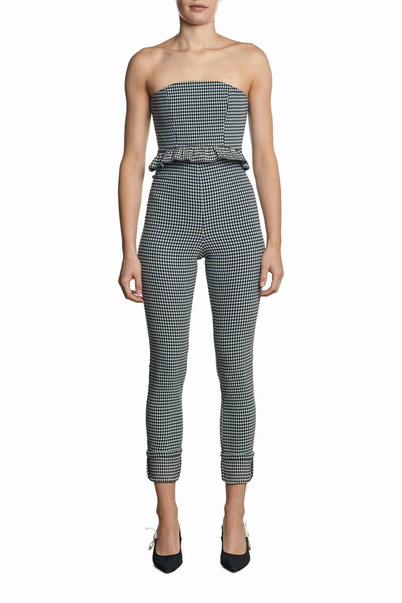 Grid Crop Bodice
