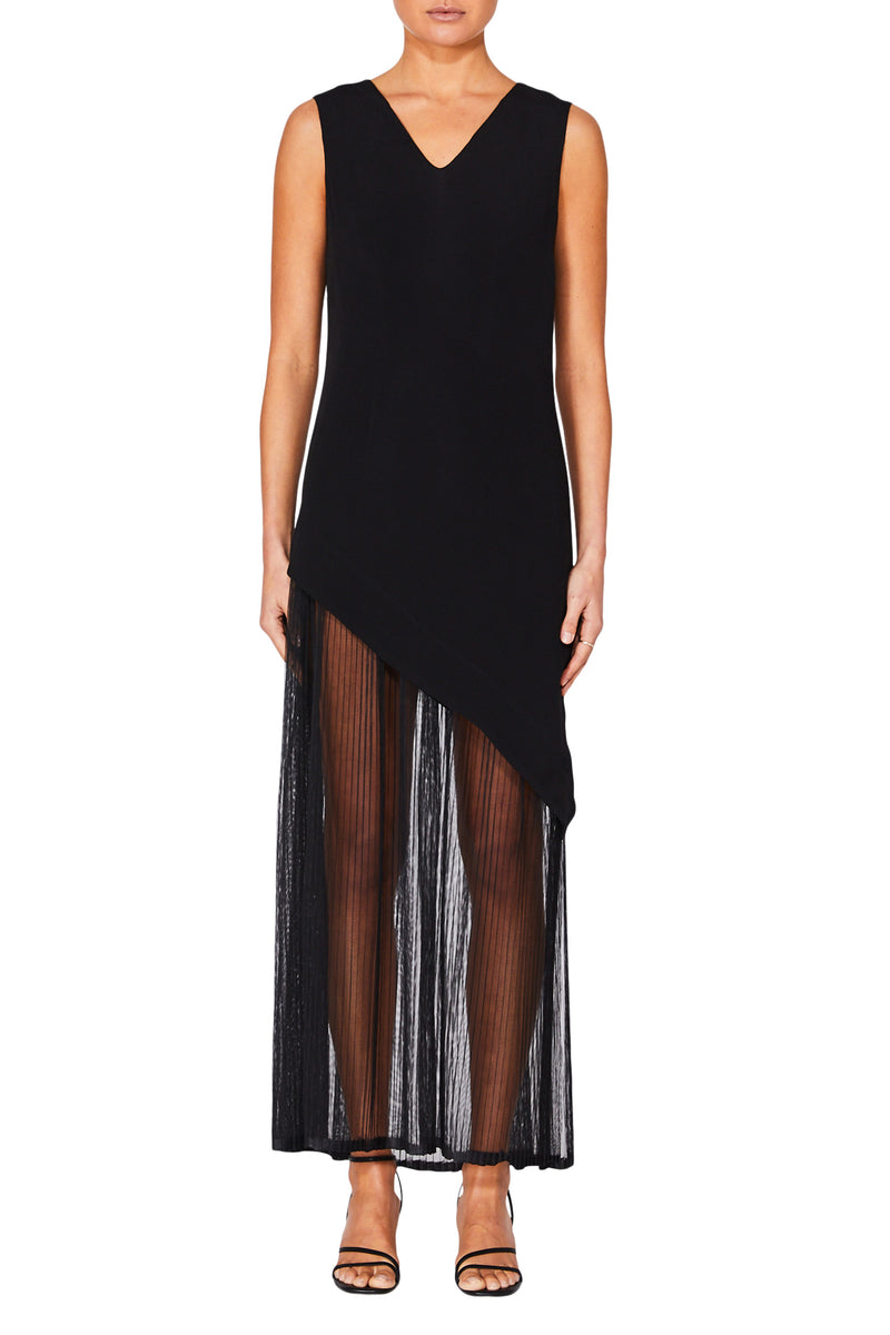 Ripple Sheer Dress