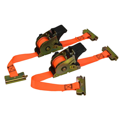 Retractable Ratchet Track Strap - 2 pack