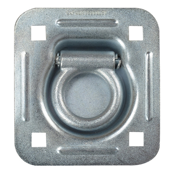 Standard Duty Bolt On Recessed Mount D-Ring - Zinc Plated