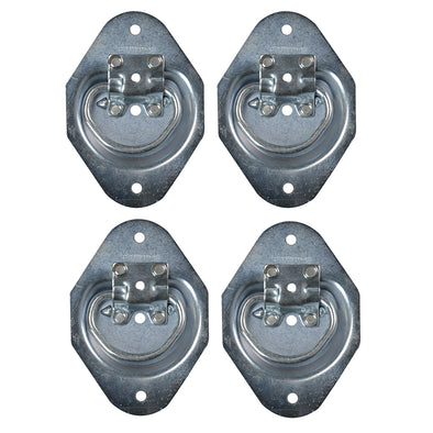 Light Duty Bolt On Recessed Mount D-Ring - 4 pack