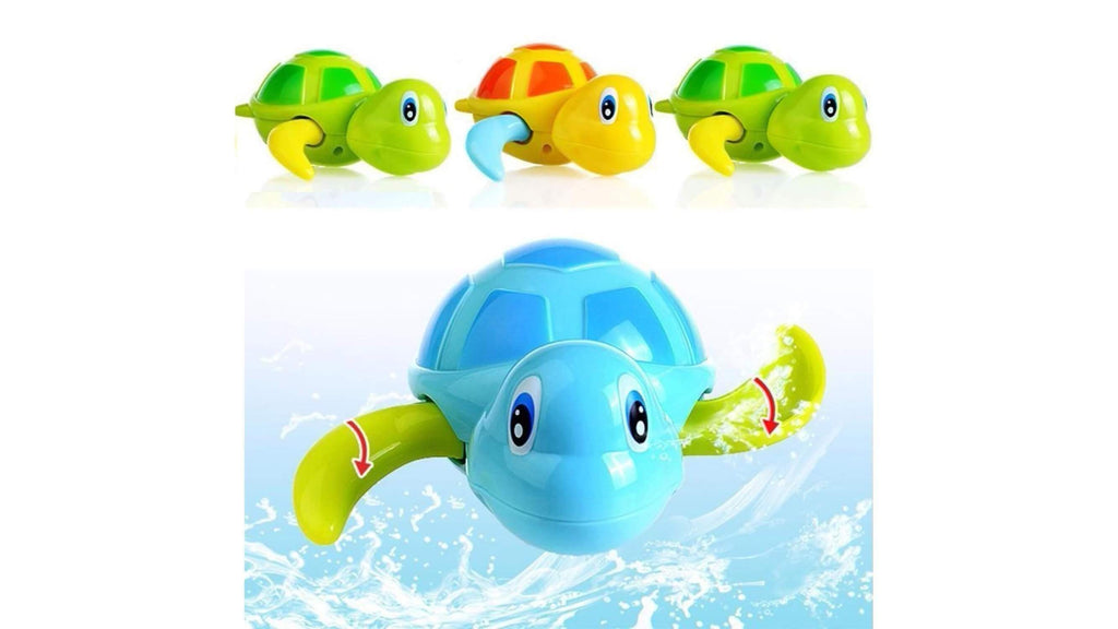 Newborn Cute Cartoon Animal Tortoise Baby Bath Toy