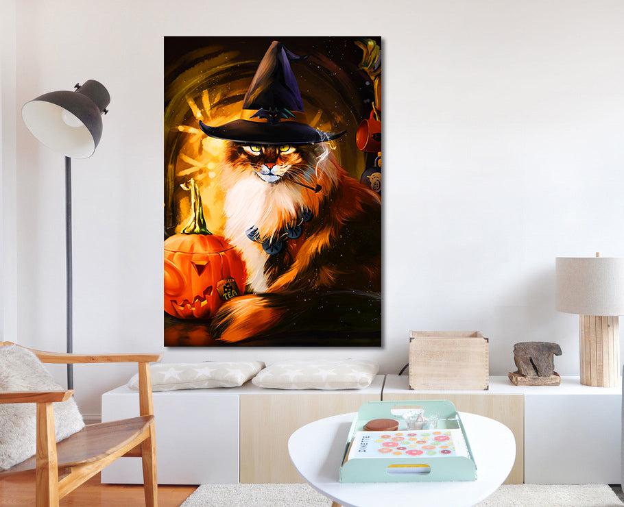 Mystery of Cats - Customized Canvas Poster - Wall Decoration ...