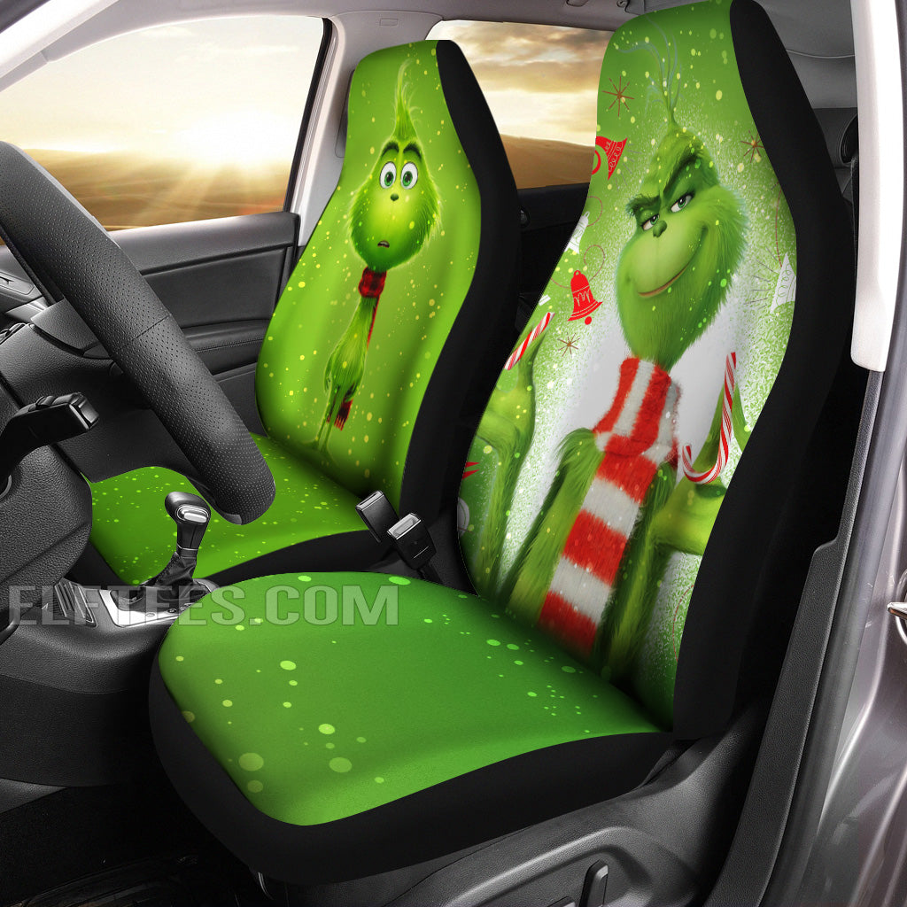 Grinch Car Seat Cover Set Of 2
