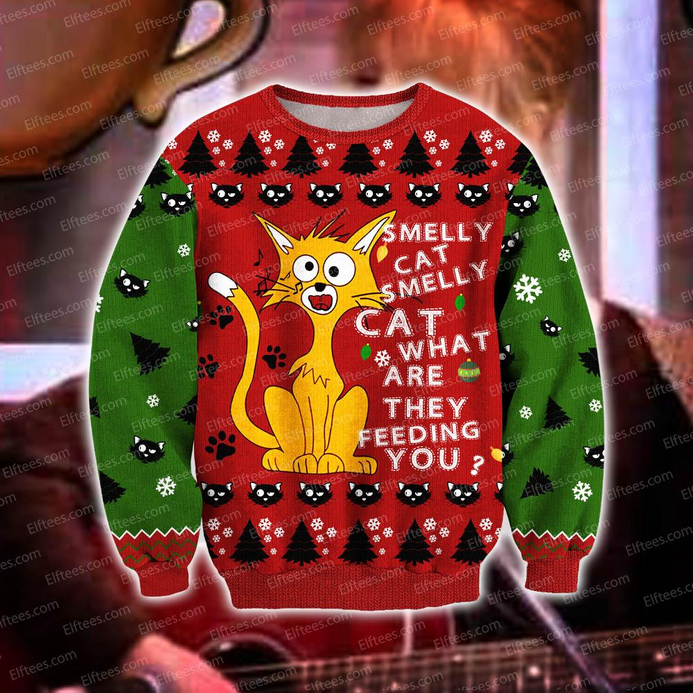Christmas Ugly Sweaters - #US03 - Smelly Cat Friends Inspired Cat ...