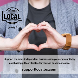 Thank you Support Local BC Gift Card purchasing program and Vancity !