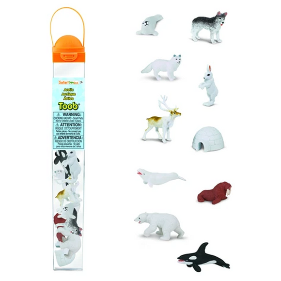 Arctic animals in a bag
