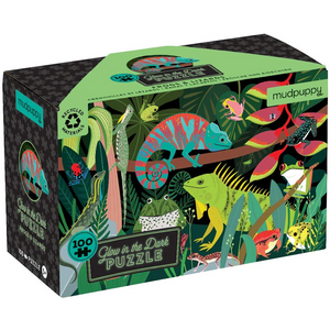 Mudpuppy Amazing Frogs and Lizards Glow in the Dark Puzzle