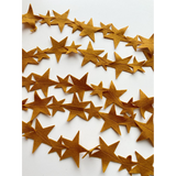 Gold Star Felt Garland, Starry Night Nursery Grad Decorations Cloud Moons Shooting Stars Baby Kids Children Wall Hanging Bedroom Celebration