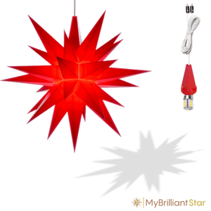 Star - Red - 13cm