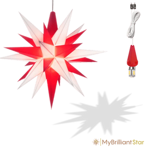 Star - White/Red - 13cm