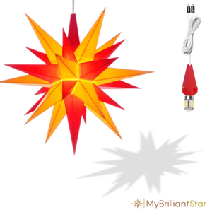Star - Yellow/Red - 13cm