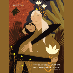Rebel Girls Poster: Jane Goodall