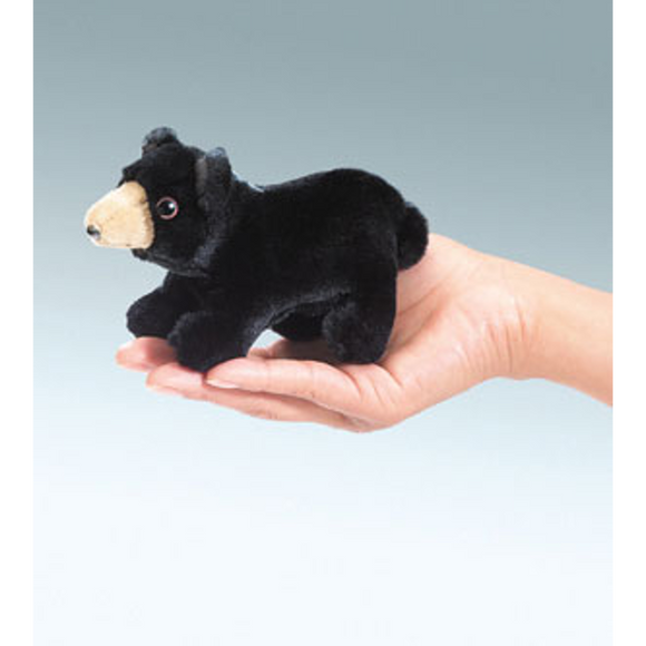 mini Black Bear - Finger Puppet