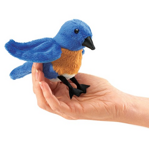 mini Blue Bird - Finger Puppet