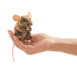mini Field Mouse - Finger Puppet