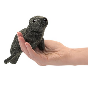 mini Harbour Seal - Finger Puppet