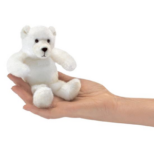 mini Polar Bear - Finger Puppet