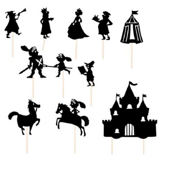 Histoires du soir - knight night-time Shadow puppets