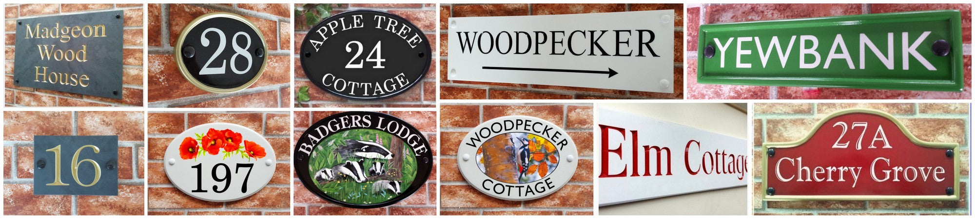 quality house signs made by House Sign Shop