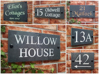 slate house name and number plaques