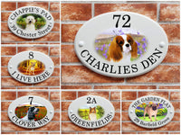 Persolnalized Dog Breed house plaques