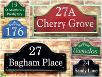 Bridge top house name and address plaques