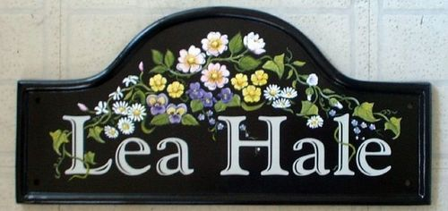 hand painted floral house signs